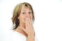 Shocked mature woman Royalty Free Stock Photos