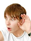 Shocked news. A young teenager getting some shocking news Royalty Free Stock Images