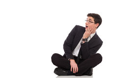 Shocked office worker. Stock Photos