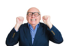 Shocked old man Stock Images