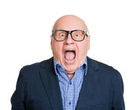 Shocked old man Royalty Free Stock Photography