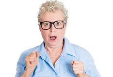 Shocked old woman Stock Image