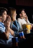 Shocked People Watching Movie Royalty Free Stock Photos