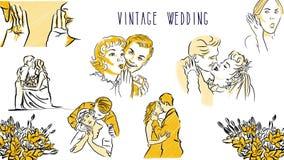 Shocked Phone Call, Vintage Sketch. Hand Drawn Artwork, Alpha Chanel royalty free illustration