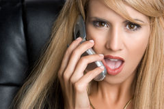 Shocked Phone Woman Royalty Free Stock Photos