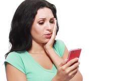 Shocked phone Royalty Free Stock Image