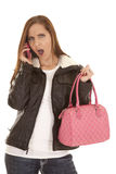 Shocked pink purse Royalty Free Stock Photography