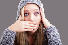 So shocked Royalty Free Stock Images