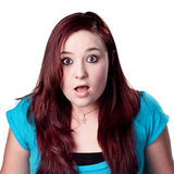 Shocked portrait of a red head Stock Image