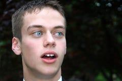 Shocked Prom Boy Stock Photography