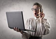 Shocked receptionist Stock Photos