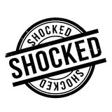Shocked rubber stamp Royalty Free Stock Photo