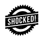 Shocked rubber stamp Stock Photos