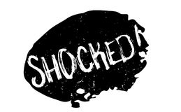 Shocked rubber stamp Stock Photo