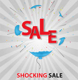 Shocked sale concept background Royalty Free Stock Photo