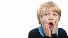 Shocked school boy Royalty Free Stock Image