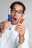 Shocked Scientist Royalty Free Stock Photos