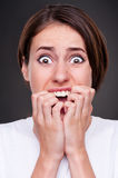 Shocked and screaming woman Royalty Free Stock Photography