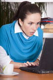 Shocked secretary Stock Photography