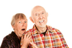 Shocked Senior Couple Royalty Free Stock Image