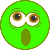 Shocked Smiley Icon Royalty Free Stock Photography