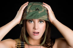 Shocked Soldier Royalty Free Stock Photos