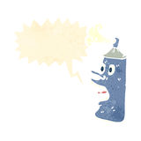 Shocked, spray can cartoon Royalty Free Stock Photos
