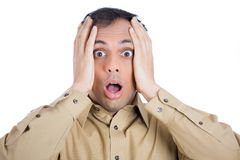 Shocked stressed man Stock Photos