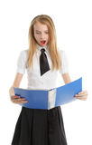 Shocked student Royalty Free Stock Photography