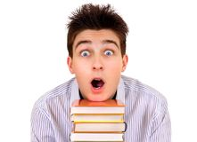 Young Man with a Books Royalty Free Stock Photo