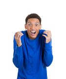 Shocked, stunned, surprised young man Royalty Free Stock Photo