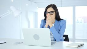 Shocked, Stunned and Wondering Young Businesswoman stock photography