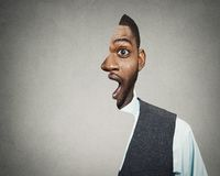 Shocked, surprised business man Royalty Free Stock Photography