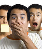 Shocked and Surprised 'Triplets' royalty free stock image