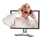 The shocked technical support Stock Photography