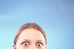Shocked teen girl Royalty Free Stock Image