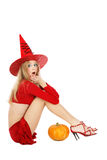 Shocked witch Royalty Free Stock Photography