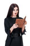 Shocked witch Stock Images
