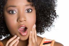 Shocked Woman. Shocked african american woman closeup Stock Photos