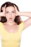 Shocked woman Royalty Free Stock Photo