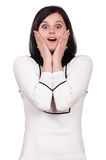 Shocked woman royalty free stock photography