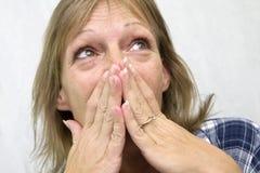shocked woman Στοκ Εικόνα