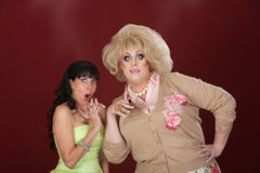 Shocked Woman With Drag Queen Stock Photos