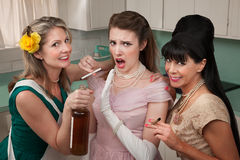 Shocked Woman With Her Friends Royalty Free Stock Image