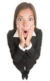 Shocked woman isolated Stock Image