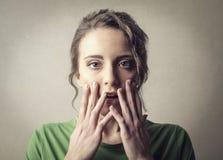Shocked woman Stock Image