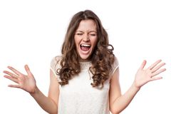 Shocked woman Royalty Free Stock Photos