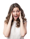Shocked woman Royalty Free Stock Images