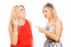 Shocked women arguing Royalty Free Stock Image