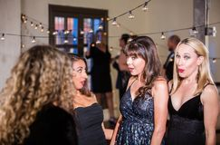 Shocked Women at Party Royalty Free Stock Images